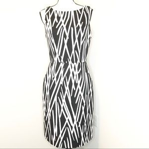 Talbots black and white printed Sheath Dress
